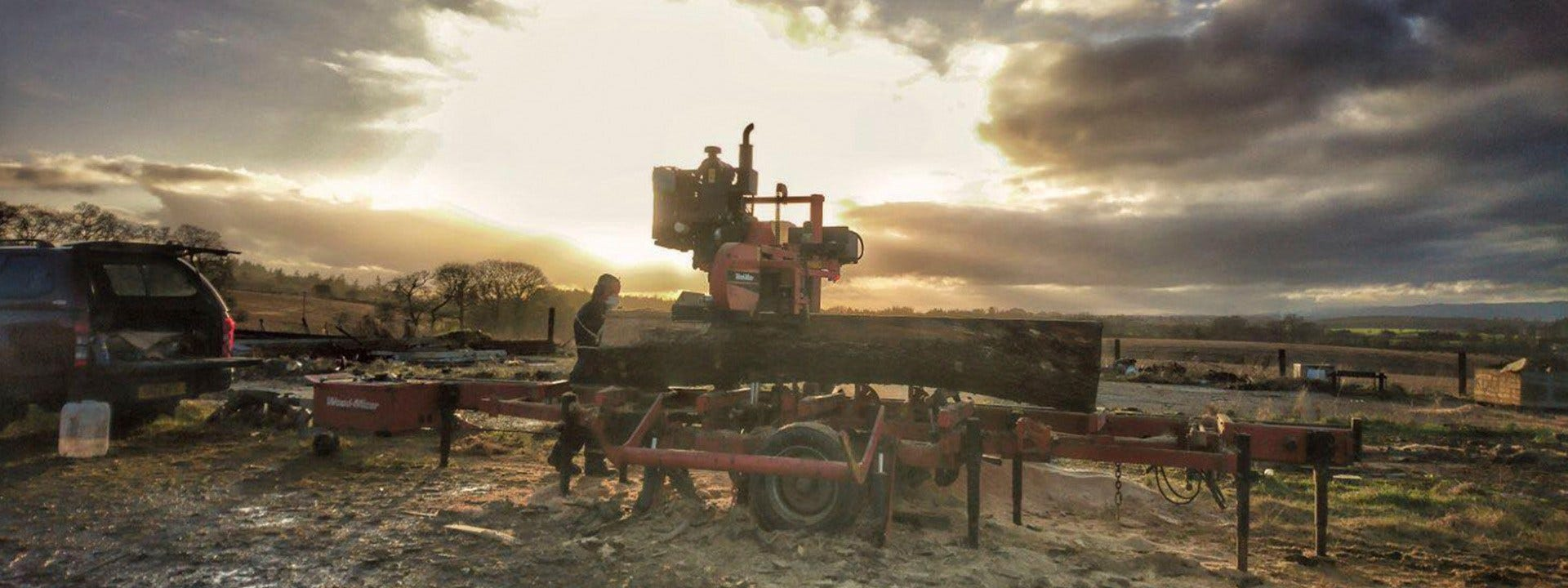 Mobile Sawmilling with Wood-Mizer LT40 sawmill in Scotland