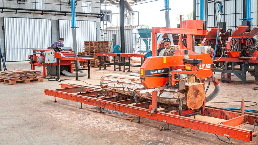 The manual LT15 is an affordable all-purpose sawmill.