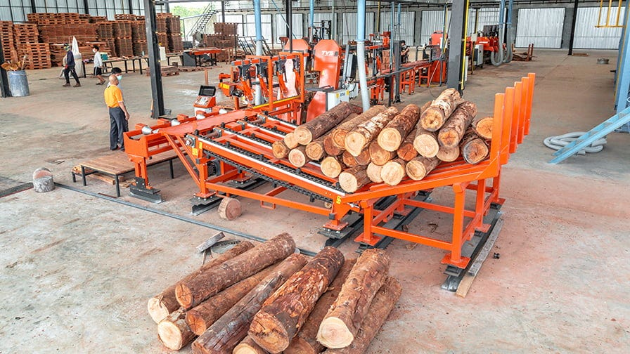The SLP Line helps automate log processing and increase yields with minimal investment.