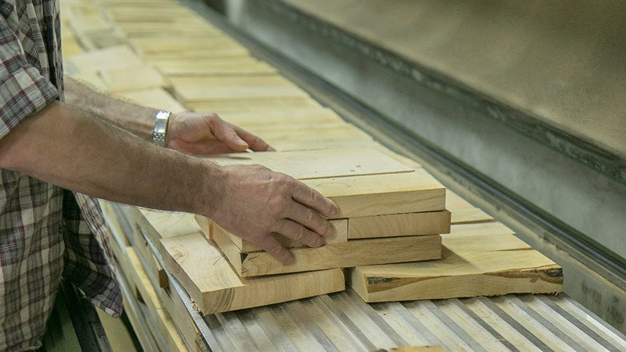 The wood pieces are carefully selected